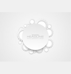 Abstract tech grey gears and blank circle vector
