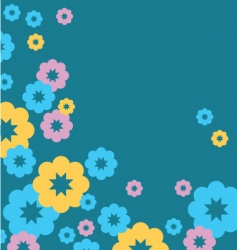 Greeting card flowers vector
