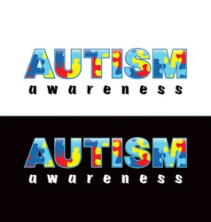 Autism Word vector image