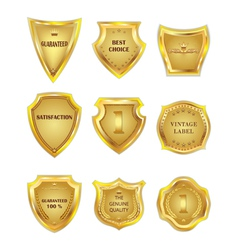 Set of golden vintagel design elements on white vector