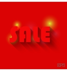 Sale with light and background vector