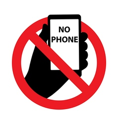 Forbidding signs no phone symbol vector