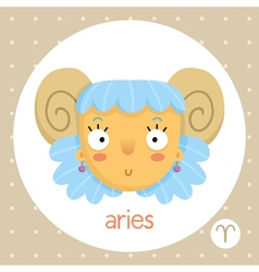 Aries zodiac sign girl with horns vector