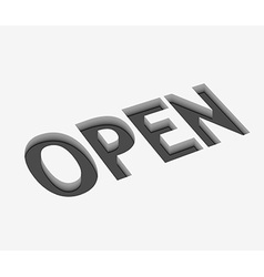 Open text design vector