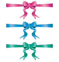 Holiday bows set5 vector
