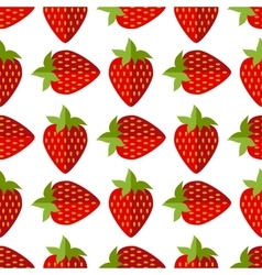 Seamless of flat strawberries vector