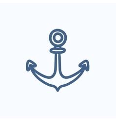 Anchor sketch icon vector image