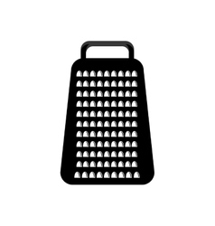 Black cheese grater graphic vector