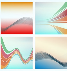 Abstract background of colorful waves vector image