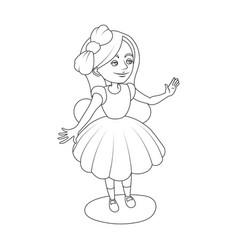 alice wonderland girl coloring book vector image vector image