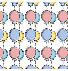 Balloons to party decoration design background vector