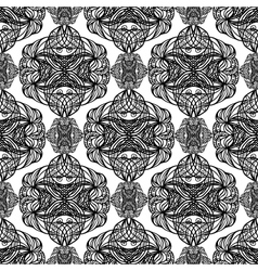 Black and white abstract seamless vector image vector image
