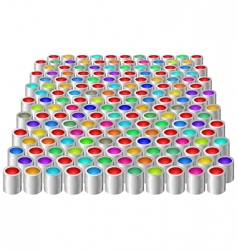 cans with color paint vector image vector image