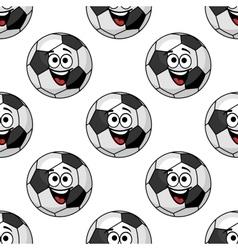 Cartoon football balls seamless pattern vector