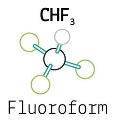CHF3 fluoroform molecule vector image