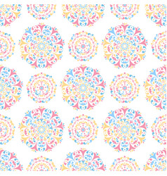 colored seamless background floral pattern vector image