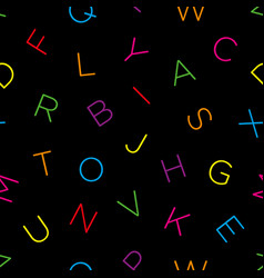 Colorful alphabet seamless wallpaper pattern vector