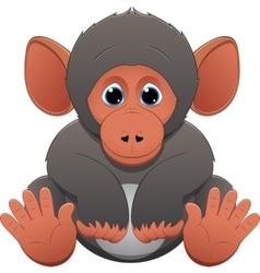 Cute baby monkey vector