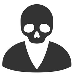 Death man flat icon vector