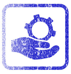 Engineering service framed textured icon vector