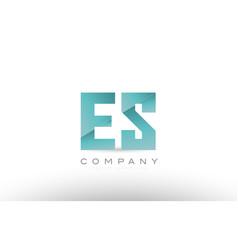 Es e s alphabet letter green logo icon design vector