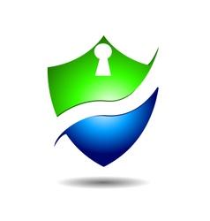 Exclusive lock shield logo icon vector