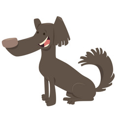 Funny dog cartoon animal vector