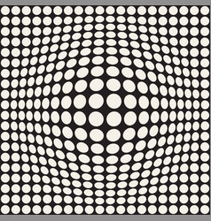 Halftone bloat effect optical abstract vector