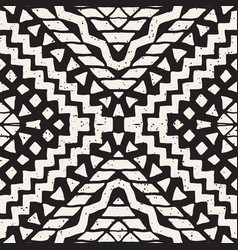 Hand drawn painted seamless pattern tribal vector