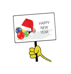 happy new year in hand color vector image vector image