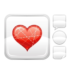 Happy valentines day romance love dotted line vector