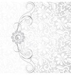 Jewelry and lace vector image vector image