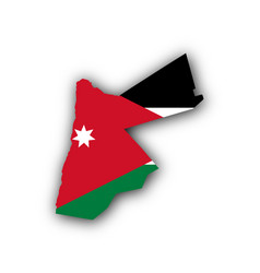 Map and flag of jordan vector
