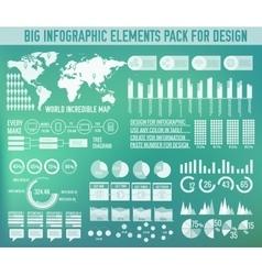 Modern big infographic elements chart set on vector image vector image