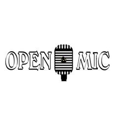 open mic night vector image vector image