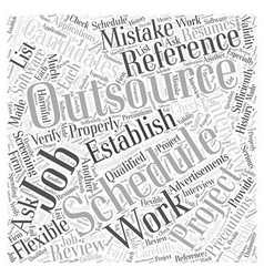 Precautions for outsourcing software jobs word vector