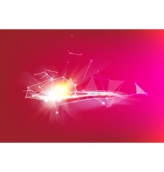 Red background with lines vector image vector image