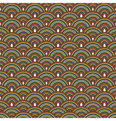 Seamless Japanese pattern Colorful decorative vector image