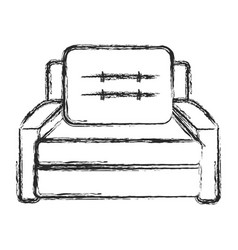 Sofa armchair furniture image sketch vector