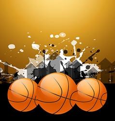 Stylish basketball background vector