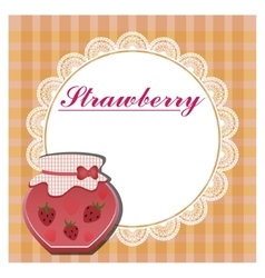 The label for the strawberry jam vector