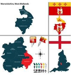 Warwickshire west midlands vector