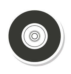 Disk compact isolated icon vector