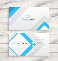 Light white business card minimal design vector