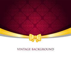 ribbon vintage vector image