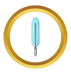 Medical mercury thermometer icon vector
