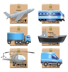 Shipment icons vector