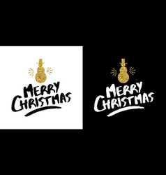 Christmas gold glitter hand drawn holiday quote vector