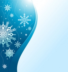 winter ornamental vector image