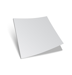 Isolated 3d blank brochure cover vector